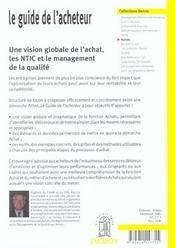 Guide De L'Acheteur Code Renvoi Vers S363566 - 4ème de couverture - Format classique