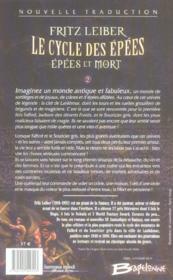 Le cycle des épées t.2 ; épées et mort - 4ème de couverture - Format classique