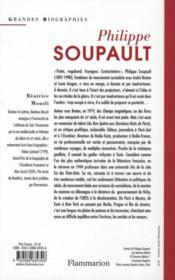 Philippe Soupault - 4ème de couverture - Format classique