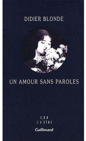 Un amour sans paroles - Couverture - Format classique