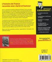 Histoire de France pour les nuls junior - 4ème de couverture - Format classique