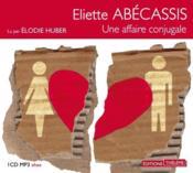 Une affaire conjugale - Couverture - Format classique