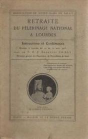 Retraite du pélerinage nationnale à Lourdes - Couverture - Format classique