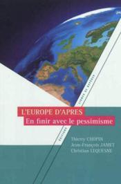 L'europe d'apres - Couverture - Format classique