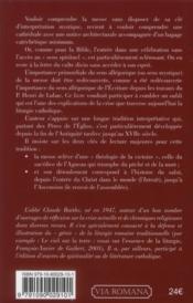 La messe, une forêt de symboles - 4ème de couverture - Format classique