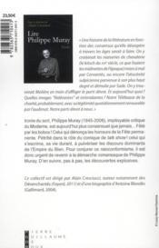 Lire Philippe Muray - 4ème de couverture - Format classique