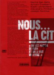 Nous... la cité - 4ème de couverture - Format classique