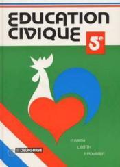Education civique 5e - Couverture - Format classique