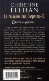 Le royaumes des carpates t.5 ; désirs suprêmes - 4ème de couverture - Format classique
