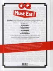 GQ Must eat ! - 4ème de couverture - Format classique