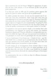 Louis I, II, III... XIV ; l'incroyable histoire de la numération des Rois de France - 4ème de couverture - Format classique