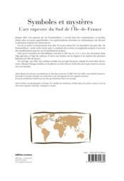 Symboles et mystères : l'art rupestre du sud de l'Ile de France - 4ème de couverture - Format classique
