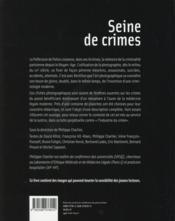 Seine de crimes - 4ème de couverture - Format classique