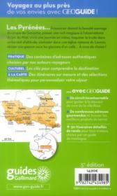 GEOguide ; Pyrénées ; Toulouse, Pau, Tarbes, Foix - 4ème de couverture - Format classique