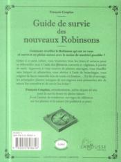 Guide de survie des nouveaux Robinsons - 4ème de couverture - Format classique