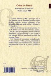 Histoire de la croisade de Louis VII - 4ème de couverture - Format classique