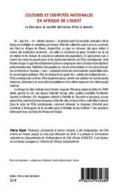 Cultures et identités nationales en Afrique de l'ouest ; le Daà dans la société béninoise d'hier à demain - 4ème de couverture - Format classique