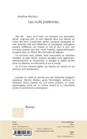 Les nuits païennes - 4ème de couverture - Format classique