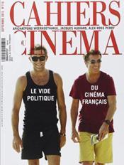REVUE CAHIERS DU CINEMA N.714 ; septembre 2015 - Couverture - Format classique
