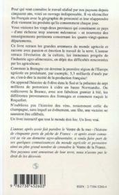 Le Ventre De La France : Historicite Et Actualite Agricoles Des Regions Et Departements Francais - 4ème de couverture - Format classique