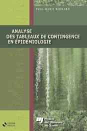 Analyse des tableaux de contingence en épidémiologie - Couverture - Format classique