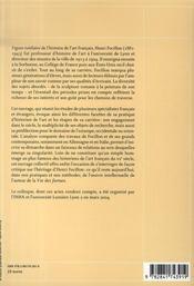 Henri focillon - 4ème de couverture - Format classique