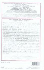 REVUE ALLEMAGNE D'AUJOURD'HUI T.177 ; pratiques et productions culturelles en RDA - 4ème de couverture - Format classique