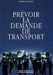 Prevoir la demande de transport - Couverture - Format classique