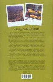 Le vrai goût du Liban - 4ème de couverture - Format classique
