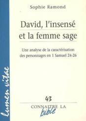 David L Insense Et La Femme Sage - Couverture - Format classique
