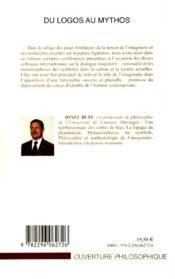 Du logos au mythos ; textes des conférences sur l'imaginaire et la rationalité - 4ème de couverture - Format classique
