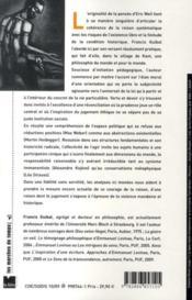 Le courage de la raison ; la philosophie pratique d'Eric Weil - 4ème de couverture - Format classique