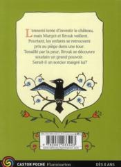 Mystère au donjon t.2 ; l'enfant sorcier - 4ème de couverture - Format classique