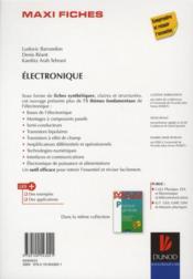 MAXI FICHES ; électronique en 75 fiches - 4ème de couverture - Format classique