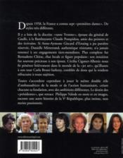 Les premières dames de la V République - 4ème de couverture - Format classique