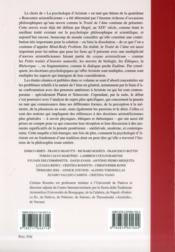 La psychologie d'Aristote - 4ème de couverture - Format classique