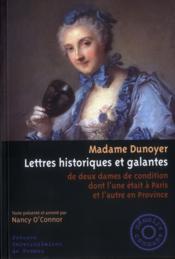 Lettres historiques et galantes ; de deux dames de condition dont l'une était à Paris et l'autre en Pronvince - Couverture - Format classique