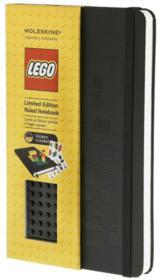 Carnet Lego noir ; grand format ; ligné - Couverture - Format classique