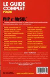 PHP et MySQL (6e édition) - 4ème de couverture - Format classique