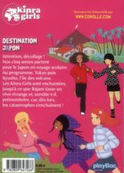Kinra girls T.5 ; destination Japon - 4ème de couverture - Format classique
