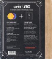 Accords mets et vins - 4ème de couverture - Format classique