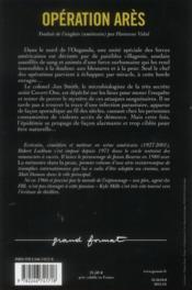 Opération Arès - 4ème de couverture - Format classique