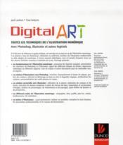 Digital art; toutes les techniques de l'illustration numérique - 4ème de couverture - Format classique