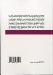 Lettres persanes de gertrude bell - 4ème de couverture - Format classique