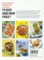 Y'a quoi dans mon frigo ? pour cuisiner avec ce qu'on a sous la main - 4ème de couverture - Format classique
