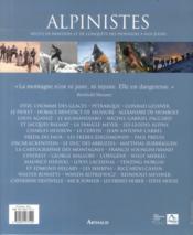Alpinistes ; récits de bravoure et de conquête, des pionniers à nos jours - 4ème de couverture - Format classique
