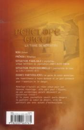 Penelope Green T.4 ; la tiare de Néfertiti - 4ème de couverture - Format classique