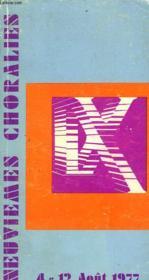 Neuviemes Choralies De Vaison La Romaine. 4 Au 13 Août 1977 - Couverture - Format classique