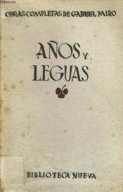 Obras Completas, Volumen Xi : Anos Y Leguas - Couverture - Format classique