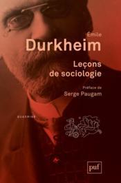 Leçons de sociologie (6e édition) - Couverture - Format classique